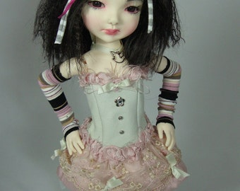 Steampunk outfit for Lasher and Wiggs BJDs. For MSD 16 inch dolls