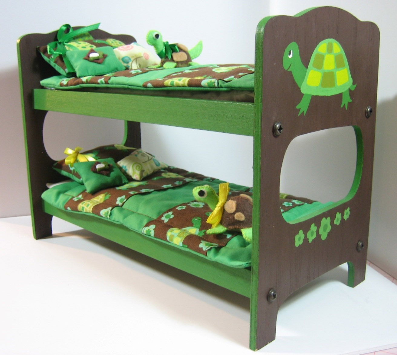 Ninja Turtle Bunk Bed Cute Wood Turtle Bunk Bed With Bedding For Blythe And Dal