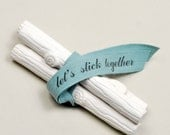 let's stick together. faux bois chalk
