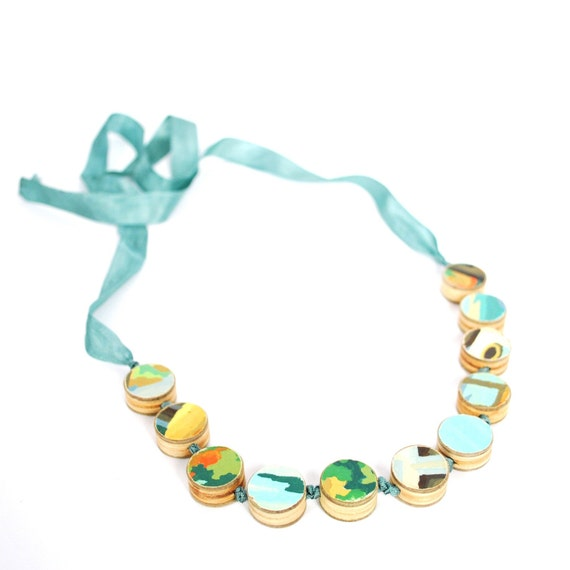 vintage paint by number necklace