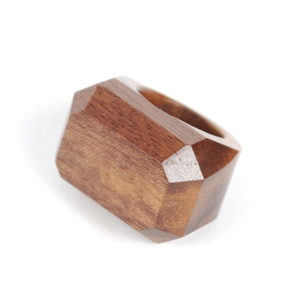 wood ring. walnut