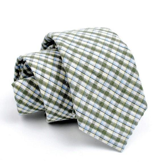 FORAGE sample sale. necktie / celery