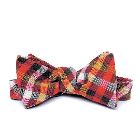FORAGE sample sale. bow tie / rust & mustard