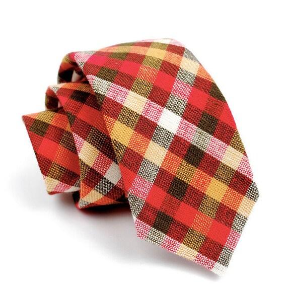 FORAGE sample sale. necktie / rust & mustard
