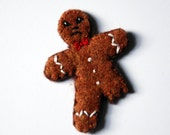 Bittersweets  Angry Gingerbread Man Brooch Pin - Makes a Great Stocking Stuffer