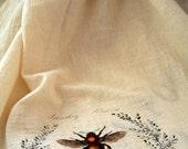 Bee Graphic Tea Towel
