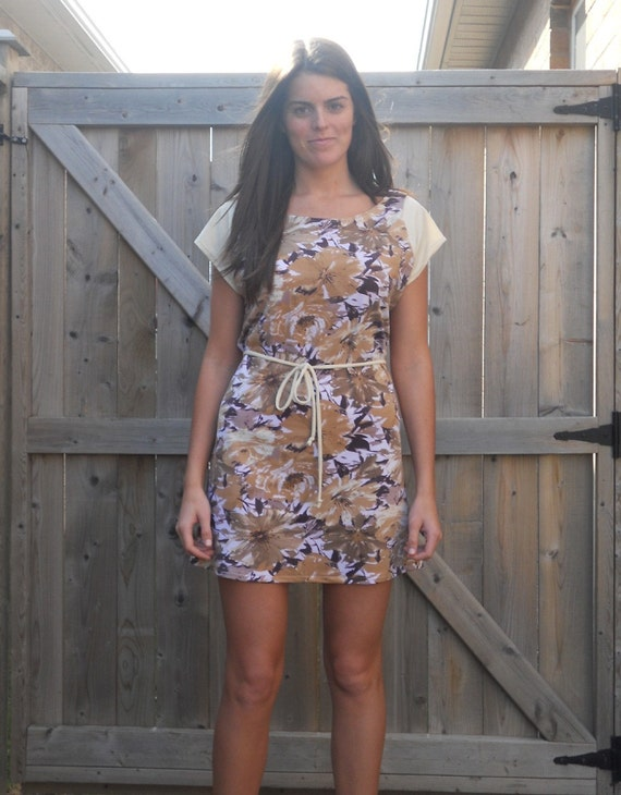 CLEARANCE Floral sundress with belt, tunic - small/medium