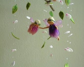 Spring fairies mobile - Mother and daughter - waldorf inspired, felted