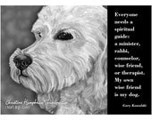 NEW Dog quote card: Goldendoodle / Gary Kowalski wisdom