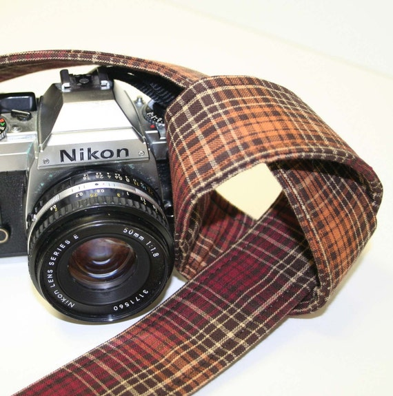 SLR, DSLR Camera Strap - Autumn Plaid
