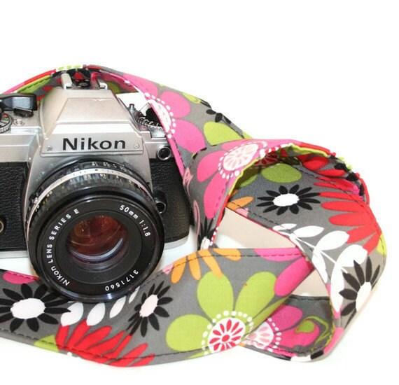 SLR, DSLR Camera Strap - Sunshine and Flowers  by HowardAvenue