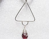 HALF PRICE OR BELOW SALE Sterling silver soldered quartz pendant Custom designer jewelry Australian Designer MSIA team jewellery