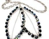 Sterling Silver hand forged leaf design pendant Custom designer jewelry Australian Designer MSIA team jewellery