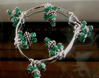20 percent off Sterling silver and Aventurine bracelet Custom designer jewelry Australian Designer MSIA team jewellery