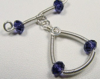 Sterling Silver toggle clasp with Swarovski crystals