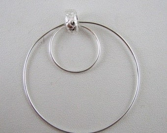 Sterling Silver circle pendant - All soldered for stability
