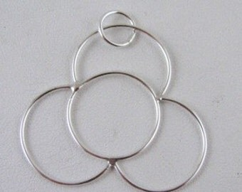 Sterling Silver hand made Flower pendant Custom designer jewelry Australian Designer MSIA team jewellery