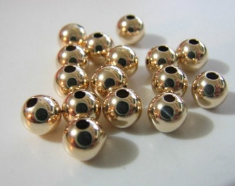 14kt G/F 6 mm round bead (NOT PLATED)