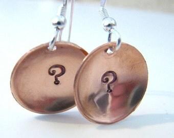 Sterling silver and copper domed earrings Custom designer jewelry Australian Designer MSIA team jewellery
