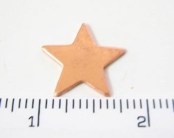 Copper star shaped stamping blank