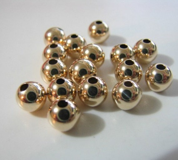 14kt Gold filled GF 3 mm SEAMLESS round bead (not plated) Quantity 20