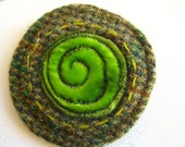 Autumn Tweed Brooch