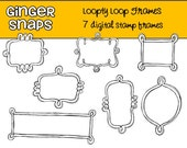 Loopty Loop Digital Stamp Frames