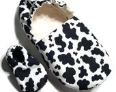 Cow Slippers (with matching baby pair if you'd like!)