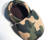 Green Camo Soft Soled Baby Shoes 18-24mo