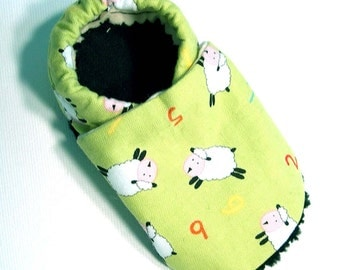 Counting Sheep Soft Soled Baby Shoes NB