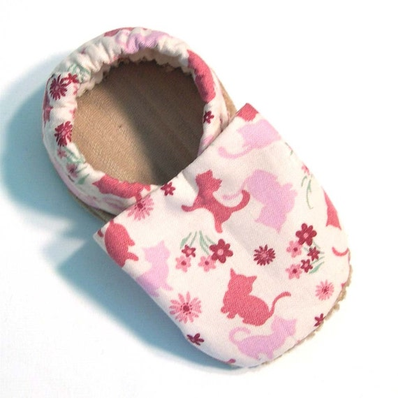 Cats Soft Soled Baby Shoes 0-6mo