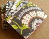 Matchbook Notebooks- Amy Butler- Lotus Lacework- Flocked Olive- 5