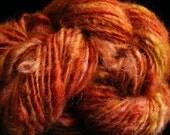 RUSTY METAL Handspun Romney Lamb Wool Yarn 80yds 3.4oz 8-9wpi