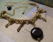 Octavia - Rainbow obsidian & 14kt gold-filled chainmaille necklace