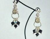 Half Byzantine Silver Earrings