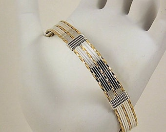 Sterling and Gold-filled Wire Wrapped Cuff Bracelet