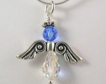 Birthstone Angel Necklace