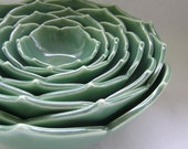 Eight Nesting Lotus Bowls