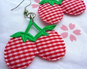 SALE Strawberry Picnic earrings