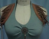 Gypsy halter, Flame retardant dusty blue with tan leather, all sizes