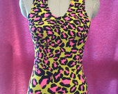 25% off Neon leopard print spandex dress, Sizes sml, med, lrg