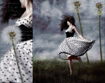 Dandelion, Whimsical Fine Art Print