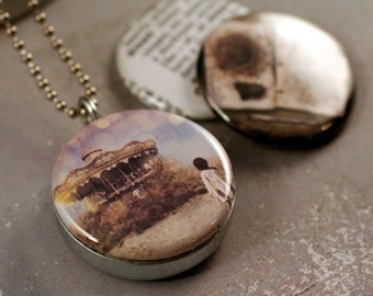 Photo Picture Locket Set, D R E A M  - 3 Lid Interchangeable LOCKET SET