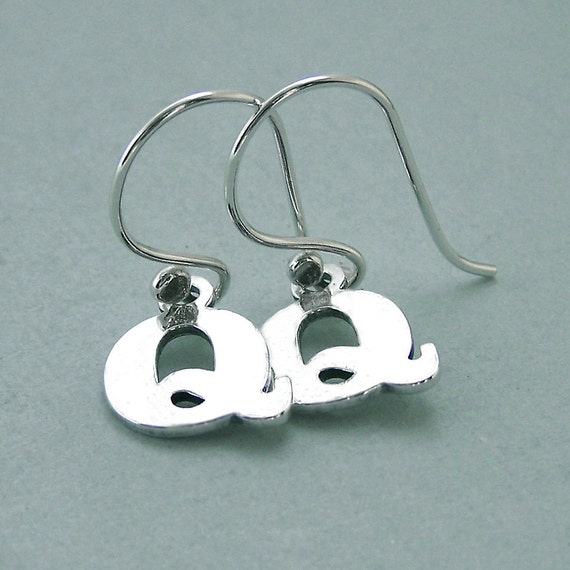 Double Q Earrings - Sterling and Fine Silver