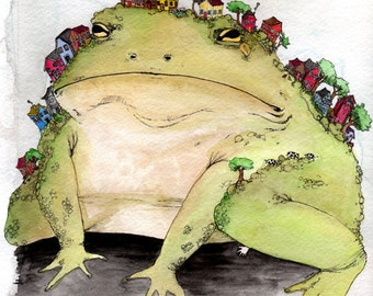 Crushed by the World Toad Ltd. Edition Giclee Print 8 x10