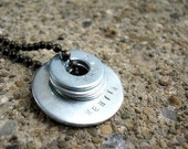 I AM   Personalized hand stamped necklace.