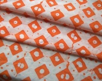 Orange Diamond Dots fabric