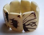 Coconut cuff bracelet.