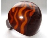 brown tagua ring size 8.5