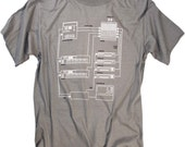 Korg Audio Synthesizer Routing Diagram Vintage Screen-Printed T-shirt Design (S,M,L,XL,XXL AVAILABLE)
